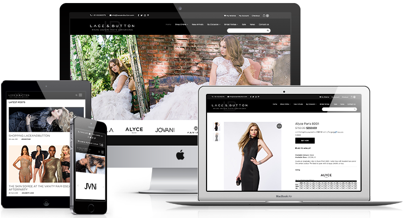 Lace and Button web design Perth by Lethal