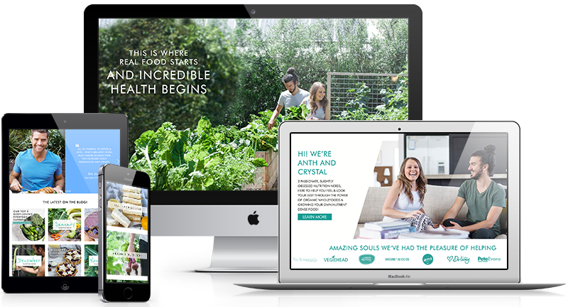 Mobile responsive and eCommerce web design for The Healthy Patch