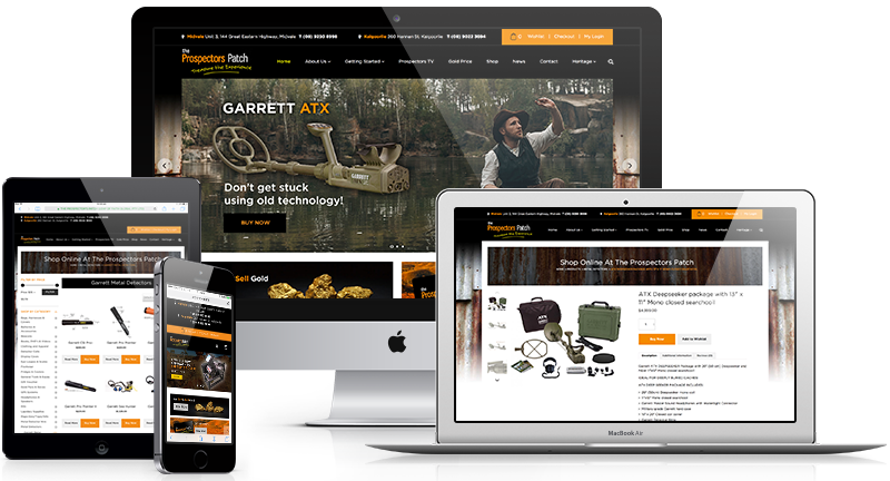 eCommerce website design for The Prospectors Patch in Perth