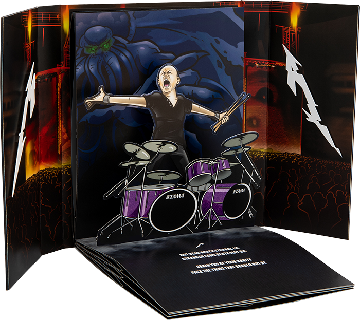 Lars Ulrich : The Thing That Should Not Be Pop-Up Book Concept by Lethal Digital.