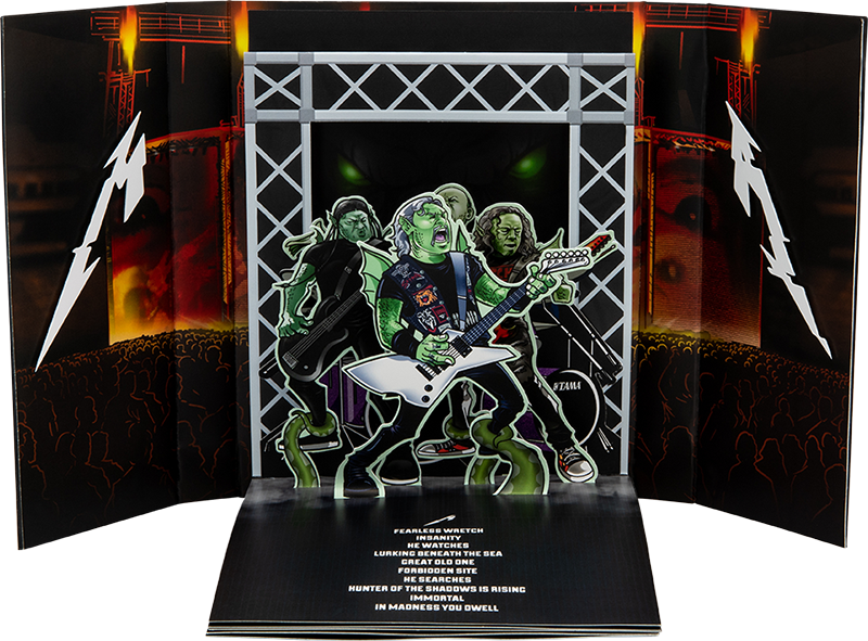 Metallica : The Thing That Should Not Be Pop-Up Book Concept by Lethal Digital.